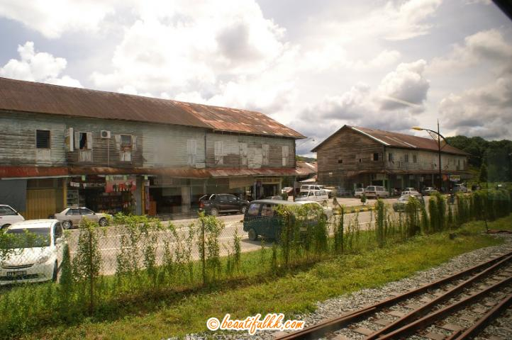 Old Wooden Shoplots at Membakut