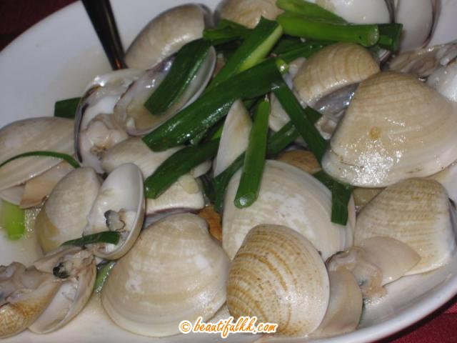 Fried Clam with Spring Onion