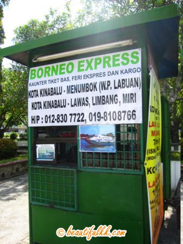 Borneo Express Counter at City Park Terminal