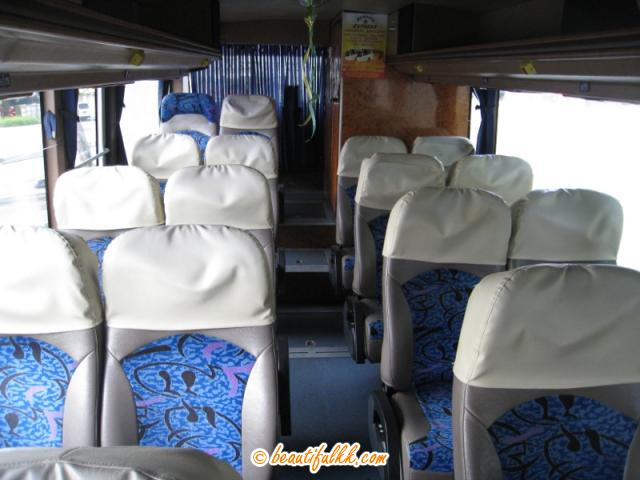 Borneo Express Bus Interior