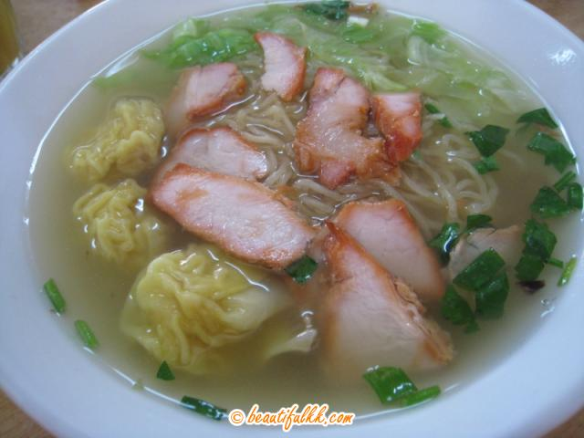 Noodle Soup with BBQ Pork and Wonton