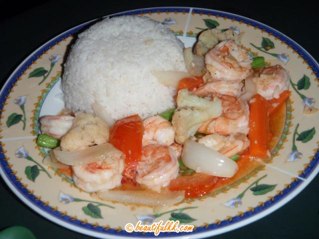 Prawn and Vegetable Rice