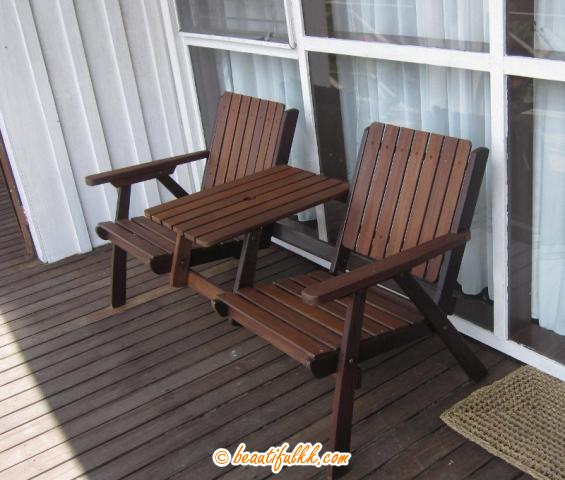 Garden Chairs at The Balcony (Peak Lodge)