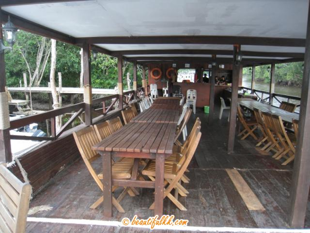 Garden Chairs and Tables Fill the Main Deck