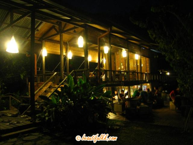 The Cafeteria and Common Room at Night