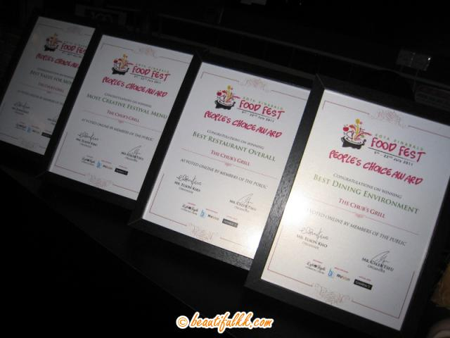 Food Festival Competition Awards