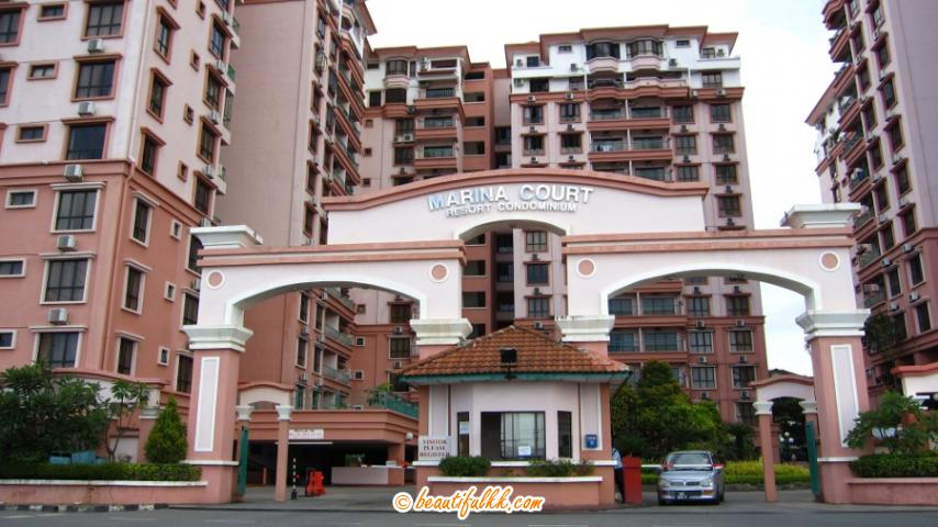 Entrance to the Marina Court Condominium