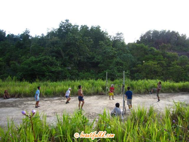 Villagers Playing Sepak Takraw