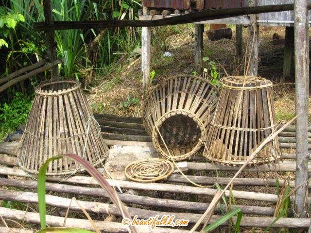 These Are Baskets Where The Chickens Are Kept Overnight