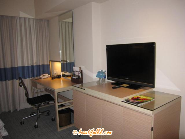 The LCD Television And The Executive Table
