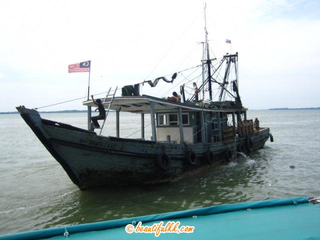 Local Fishing Boat In Sandakan