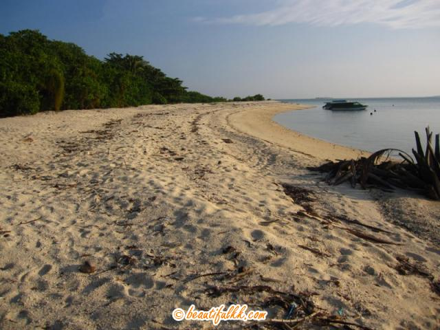 The Western Side Sandy Beach At Selingan Island